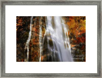 Water Flow Framed Print by Keith Kapple