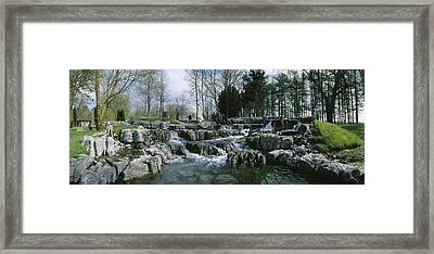 Water Flowing In A Garden, St. Fiachras Framed Print by The Irish Image Collection