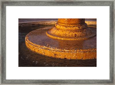 Water Fountain Base Framed Print