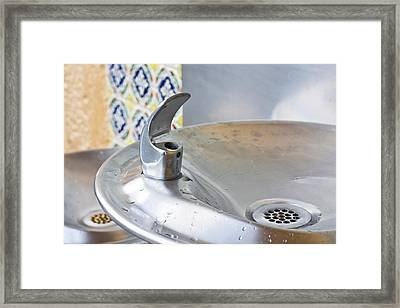 Water Fountain Framed Print by Tom Gowanlock