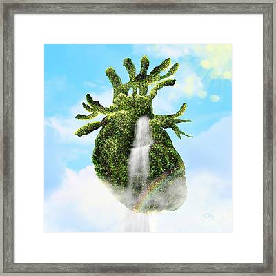 Water From The Heart Framed Print by Mo T