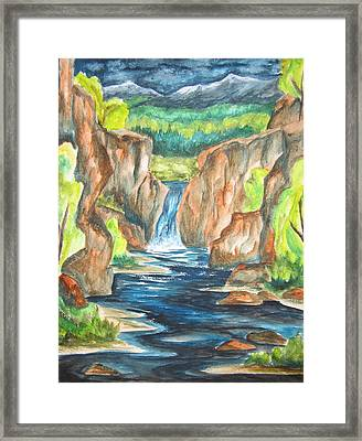 Water From The Rockies Framed Print by Cheryl Pettigrew
