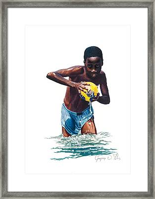 Water Game Framed Print