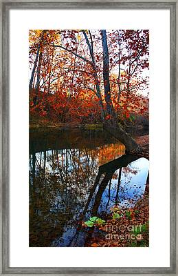 Water In Fall Framed Print