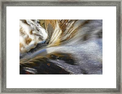 Water In Motion Framed Print by Wayne Stabnaw