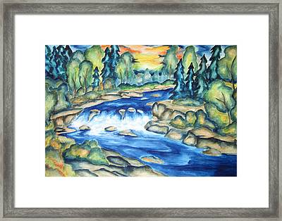 Water In The Gunnison Valley Framed Print