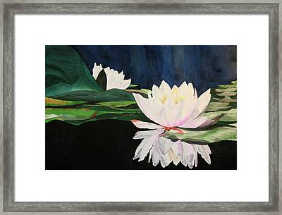Framed Print featuring the painting Water Lillies by Teresa Beyer