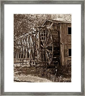 Water Mill In Action Framed Print by Douglas Barnett