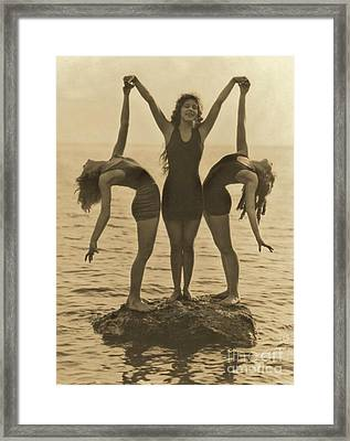 Water Nymphs Framed Print by Padre Art