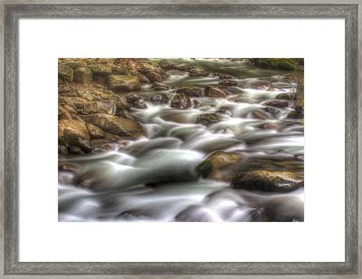 Water On The Rocks Framed Print by Barry Jones