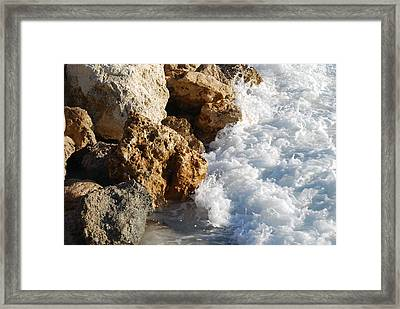 Water On The Rocks Framed Print by Carrie Munoz