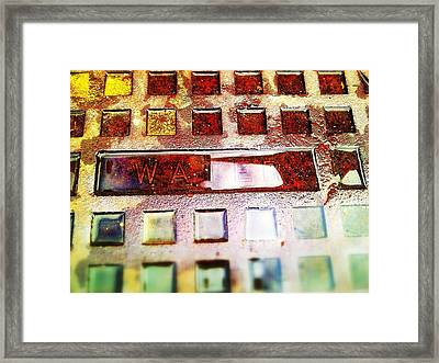 Water On Water Framed Print by Olivier Calas