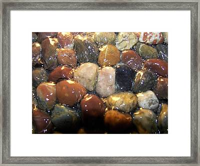 Framed Print featuring the photograph Water Over River Rock I by Carolyn Repka