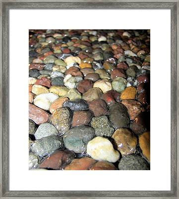 Framed Print featuring the photograph Water Over River Rock II by Carolyn Repka
