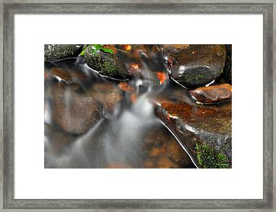 Water Over Rocks Framed Print