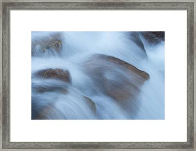 Water Over Rocks Framed Print by Maureen Bates
