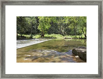 Water Over The Bridge Framed Print