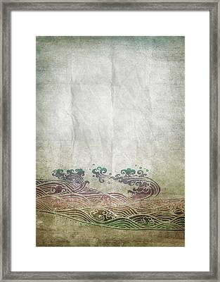 Water Pattern On Old Paper Framed Print