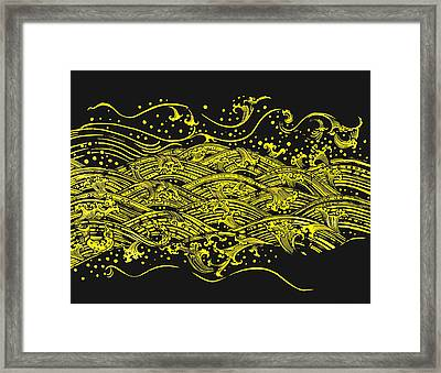 Water Pattern Framed Print