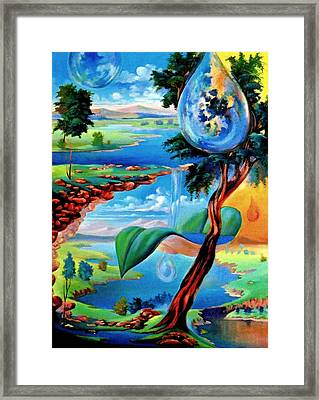 Water Planet Framed Print by Leomariano artist BRASIL