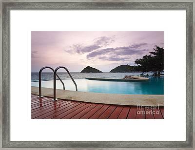 Water Pool At Koh Tao South Of Thailand Framed Print by Anusorn Phuengprasert nachol