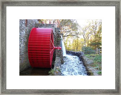 Water Powered Grist Mill Wheel Framed Print by John Small