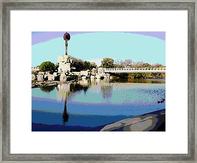 Water Reflection Framed Print by David Alvarez