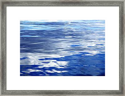 Calm Blue Water With Shades Of Grey Framed Print by Skip Nall
