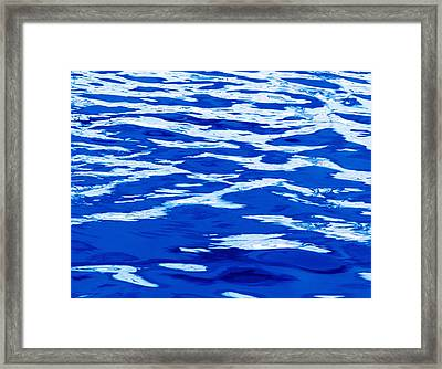 Rippled Blue Water Framed Print by Skip Nall