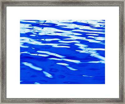 Calm Blue Water Framed Print by Skip Nall