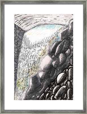 Mountain Spring Falls Monterey Ma Framed Print by Al Goldfarb