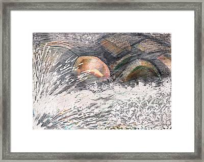 River Road Spring Melt Framed Print