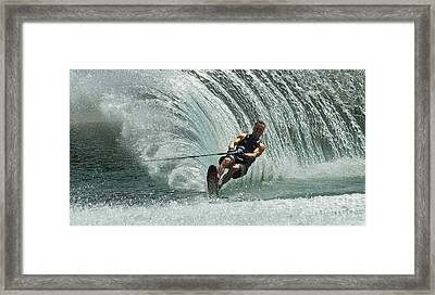 Water Skiing Magic Of Water 10 Framed Print by Bob Christopher