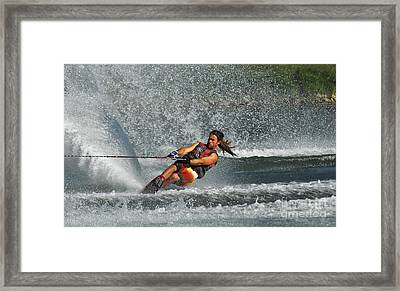 Water Skiing Magic Of Water 15 Framed Print by Bob Christopher