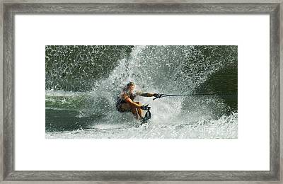 Water Skiing Magic Of Water 34 Framed Print by Bob Christopher