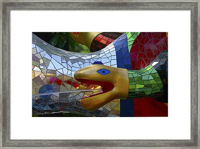 Framed Print featuring the photograph Water Snake by Charles Dana