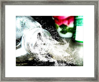 Framed Print featuring the photograph Water Spill by Ester  Rogers