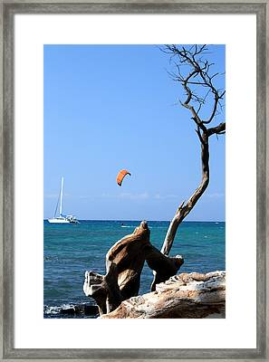 Water Sports In Hawaii 2 Framed Print by Karen Nicholson