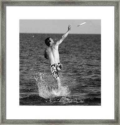 Water Sports Framed Print by Raymond Earley