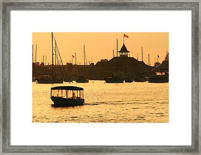 Water Taxi Framed Print by Coby Cooper