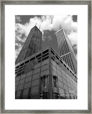 Water Tower Place And John Hancock Framed Print by David Bearden