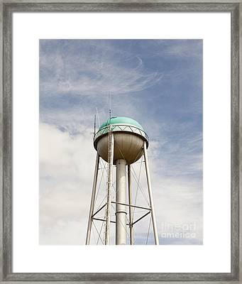 Water Tower With A Cellphone Transmitter Framed Print by Paul Edmondson