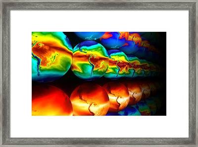 Water Vapour Distribution, Computer Model Framed Print