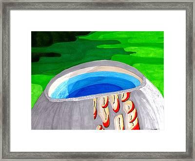Water Vessel Framed Print