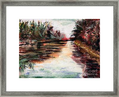 Water-way Oil Painting Framed Print by Isabella F Abbie Shores FRSA