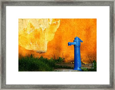 Water Well Framed Print