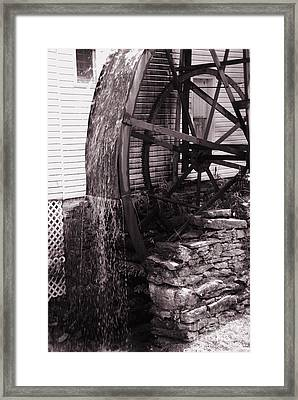 Water Wheel Old Mill Cherokee North Carolina  Framed Print by Susanne Van Hulst