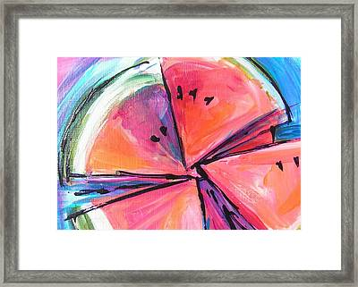 Water Whirled Framed Print by Judy  Rogan