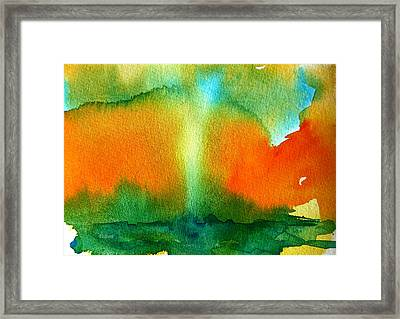 Watercolor Waterspout  Framed Print
