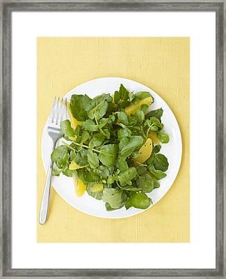 Watercress Orange Salad Framed Print
